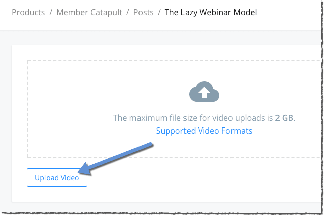 Upload your own videos right into Kajabi
